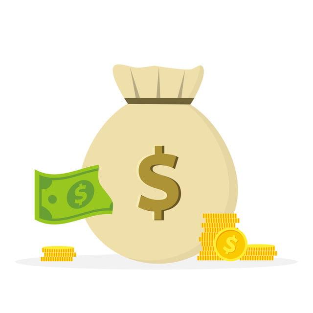 Money Bag Icon Vector Money Moneybag Illustration Cartoon