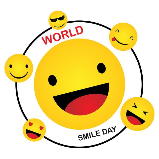Smile Icon Template Design Smiling Emoticon Vector Logo On
