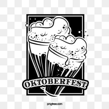 feiern der deutschen oktoberfestschwarzweiss linie logo, Oktoberfest, München, Feiern PNG und Vektor