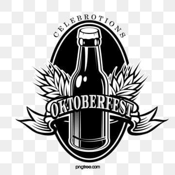 deutsches oktoberfest schwarzweiss logo, Oktoberfest, München, Feiern PNG und Vektor