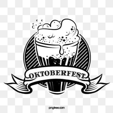retro linie oktoberfest schwarzweiss linie logo, Oktoberfest, München, Retro - PNG und Vektor