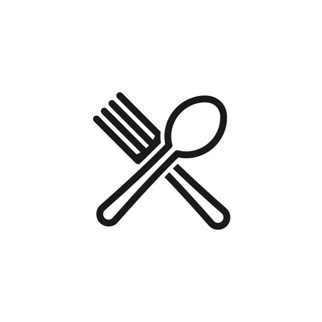 Diseno De Logotipo De Restaurante Y Comida Cruzada De Cuchara Y