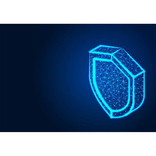 Escudo De Seguridad Isométrica Diseños Abstractos De Baja