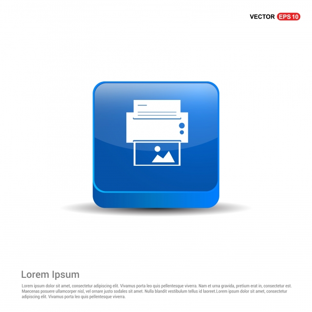Printer Icon 3d Blue Button Accessories Black Business Png And