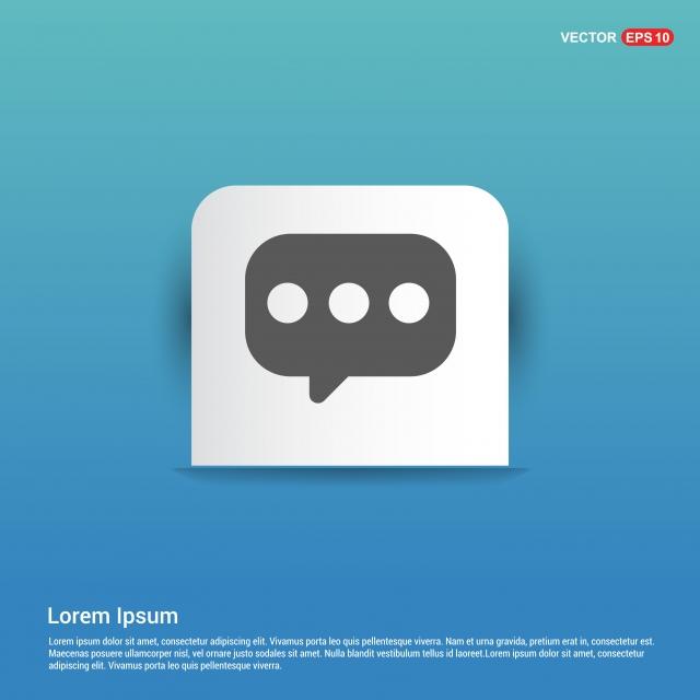 Speech Bubble Icon Blue Sticker Button, App, Application