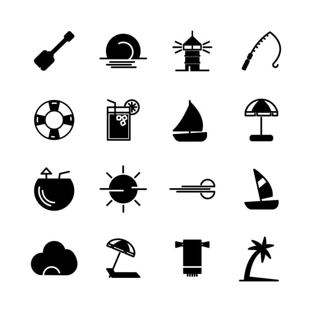 summer icon solid set summer icons summer icon png and vector with transparent background for free download https pngtree com freepng summer icon solid set 4993963 html