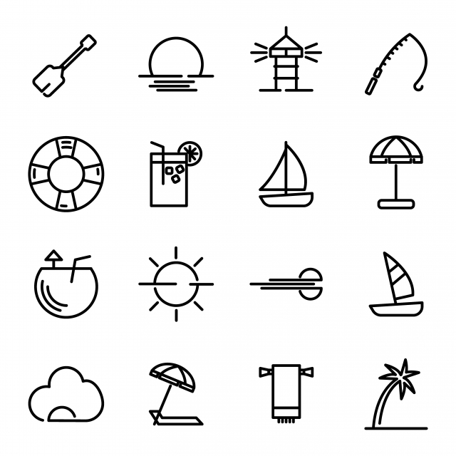 summer line icon set line icons summer icons summer png and vector with transparent background for free download https pngtree com freepng summer line icon set 4993965 html