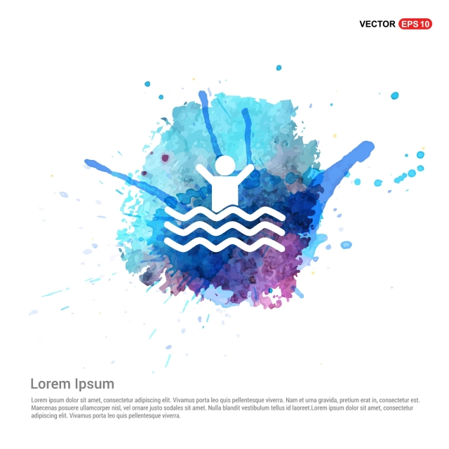 Swimming Icon Watercolor Background Active Activity Circle Png