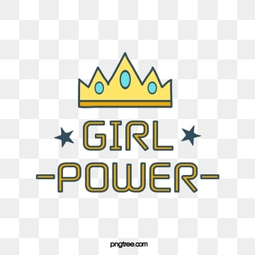 creative cartoon yellow ornate crown stars female power feminist art word, Yellow, Creative, Cartoon PNG and Vector