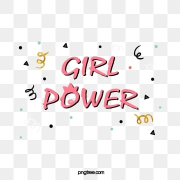 cute cartoon handwritten feminist female power ribbon creative color art word, Handwriting, Feminist, Female Power PNG and Vector