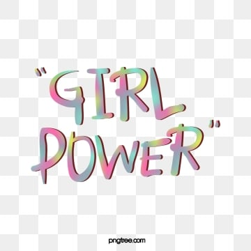 cute colorful gradient three dimensional creative female power feminist art word, Creative, Female Power, Feminist PNG and Vector