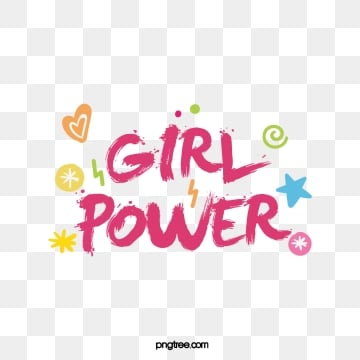 female power feminist declaration creative pink brush cute art word, Creative, Pink, Writing Brush PNG and Vector