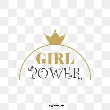 feminist womens power golden crown creative aristocratic word art, Feminist, Female Power, Golden PNG and Vector