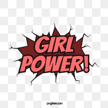pink cartoon female power comic font creative art word, Pink, Cartoon, Cartoon PNG and Vector