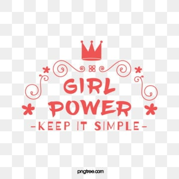 pink cute creative pattern crown female power feminist declaration art word, Female Power, Feminist Declaration, Feminist Word Art PNG and Vector