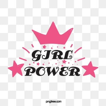 pink minimalist creative crown star handwritten feminist female power art word, Handwriting, Feminist, Female Power PNG and Vector