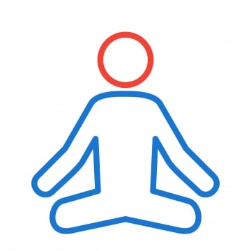 Yoga Meditation Icon PNG Images | Vector and PSD Files