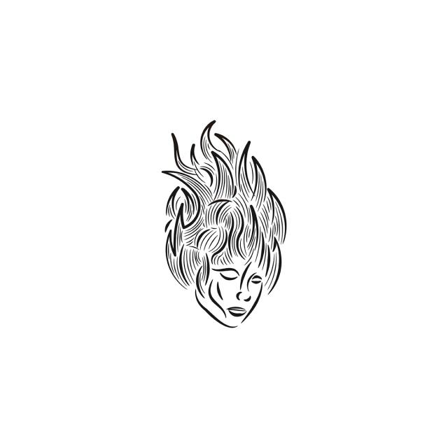 siluet wajah wanita dan api logo desain inspirasi i ikon api ikon logo ikon wanita png dan vektor dengan latar belakang transparan untuk unduh gratis pngtree