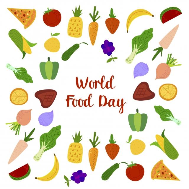 يوم الأغذية العالمي مع اللحوم والفواكه الملونة Colorfull أبل الخلفية الموز Png والمتجهات للتحميل مجانا