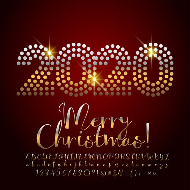Christmas Fonts.2020 Mary Christmas Fonts Text Effect Ai For Free Download