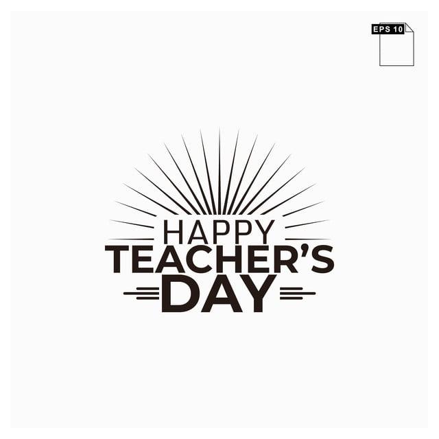 Moment Happy Teachers Day Lettering Art Font Art Font For