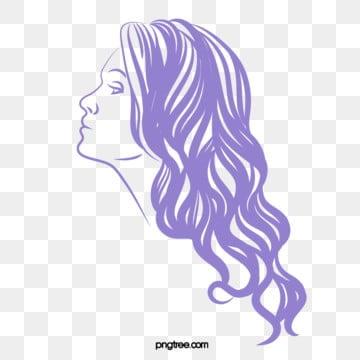 elegant monochrome long hair woman, Temperament, Simple But Elegant, Woman PNG and Vector