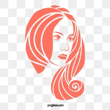 fashion monochrome long hair side face woman, Girl, Curly Hair, Girl PNG and Vector