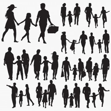 Silhouette Family Png Images Vector And Psd Files Free Download On Pngtree