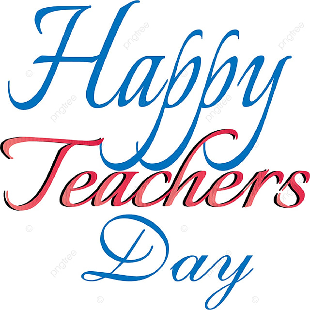 Happy Teachers Day Illustration Art Font For Free Download