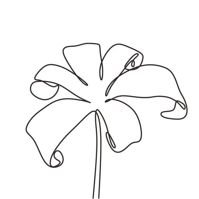 Fleur Continue Une Ligne Dessin Style Minimaliste Le Dessin