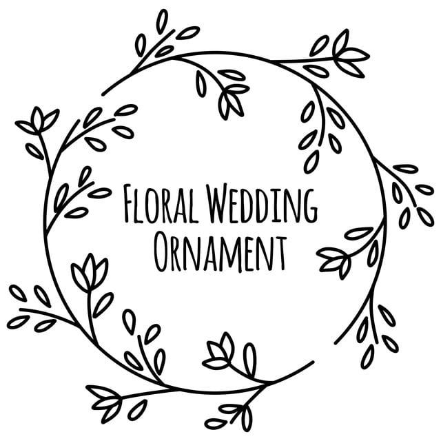 Leaf Flower And Fl Doodle Hand Drawn Wedding Invitation