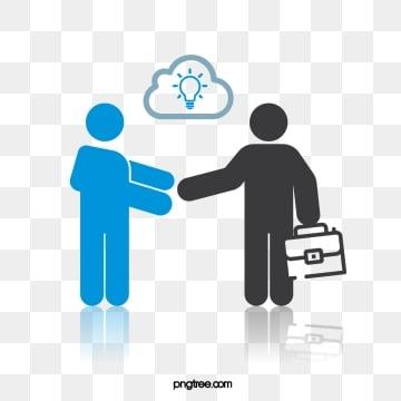 사업 협력  악수  간단한 악당, 생활, 커뮤니케이션, 인물 PNG 및 벡터