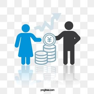 비즈니스 금화 이익 테마 간단한 악당, 생활, 커뮤니케이션, 인물 PNG 및 벡터