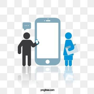 인터넷 휴대 전화 사업 테마 간단한 악당, 생활, 커뮤니케이션, 인물 PNG 및 벡터