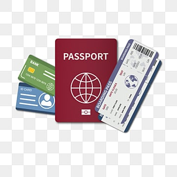 red travel passport ticket, Tourism, Country, City PNG and Vector