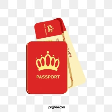 red travel plane ticket passport illustration, Red, Travel, Air Ticket PNG and Vector