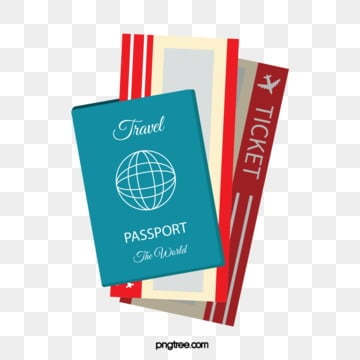 three dimensional airline ticket passport illustration, Stereoscopic, Realism, Air Ticket PNG and Vector
