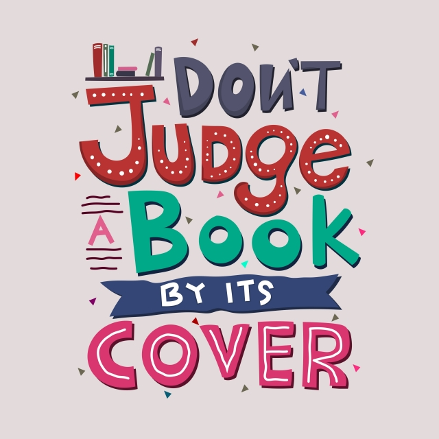Don T Judge A Book By Its Cover Quote Typography Vector ...