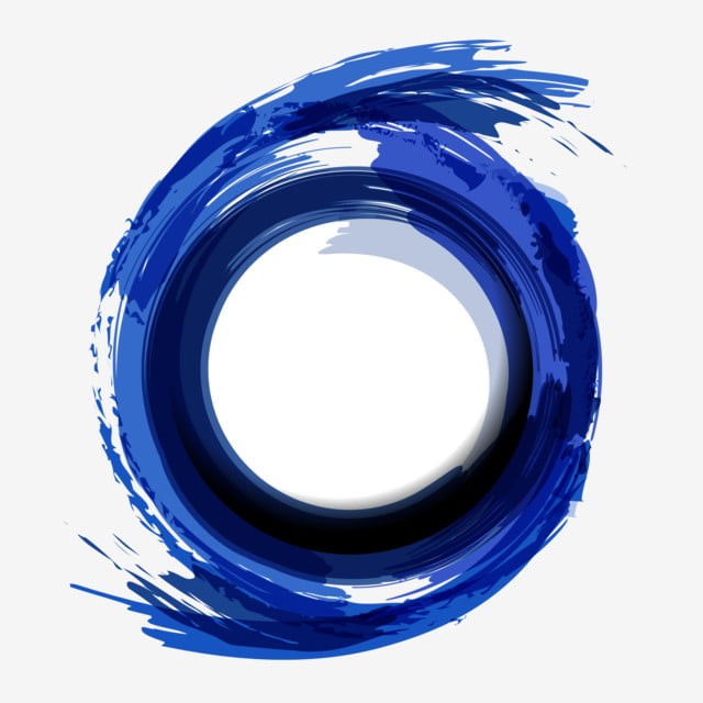 Blue Circle Artistic Abstract Brush Strokes Background
