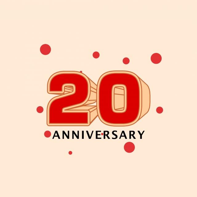 20 Ans Anniversaire Png.20 Ans Anniversaire Vecteur Modele Illustration Publicite