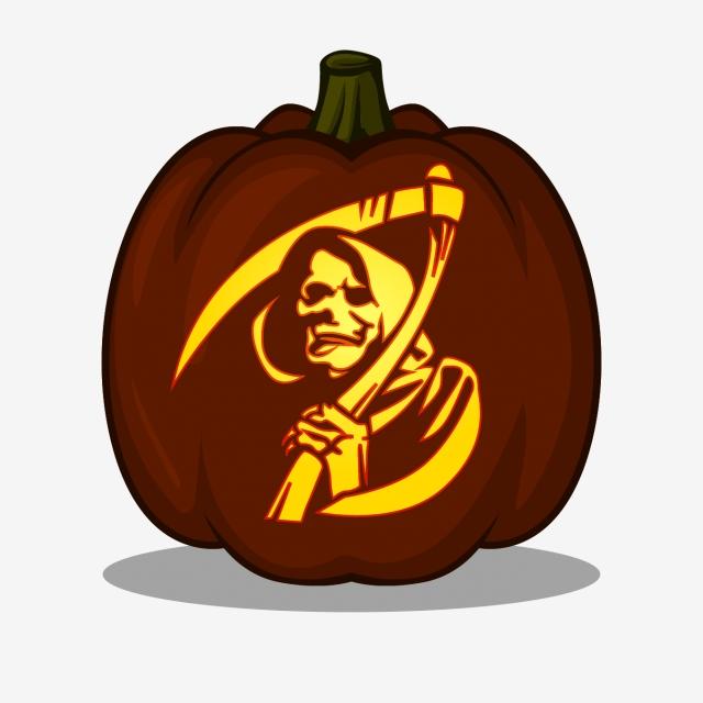 Grim Reaper Design For Pumpkin Carving Ideas Include Pdf