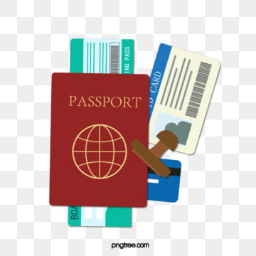 hand drawn travel passport ticket creative elements, Travel Passport, Passport, Plane Ticket PNG and Vector