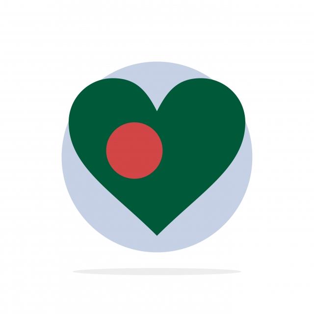 Heart Bangla Bangladesh Country Flag Abstract Circle Backgro