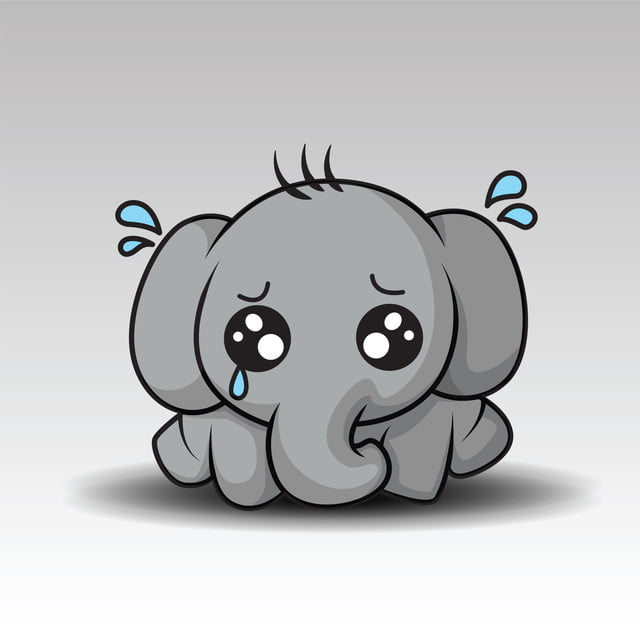Cute Baby Elephant Cartoon, Elephant, Baby, Animals PNG ...