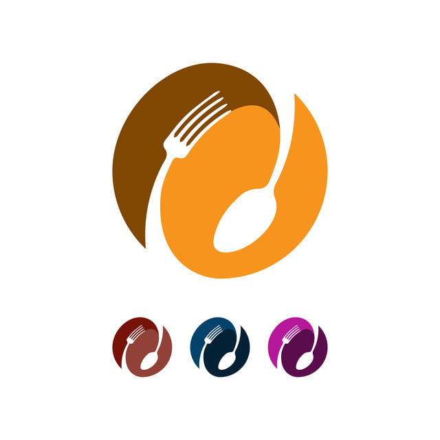 Spoon And Fork Abstract Logo Vector Graphic Food Icon Symbol