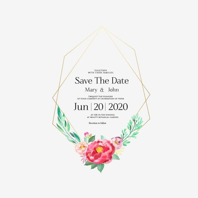 undangan pernikahan bingkai emas bunga bingkai pernikahan png dan vektor dengan latar belakang transparan untuk unduh gratis undangan pernikahan bingkai emas bunga