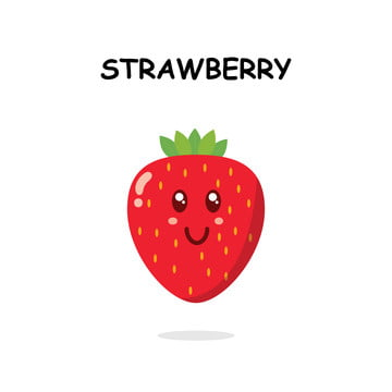 The Best Simple Strawberry Cartoon Images Background