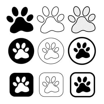 Paw Prints Png Images Vector And Psd Files Free Download On Pngtree White cloud illustration, speech balloon thought bubble, imagine s, love, white, face png. paw prints png images vector and psd