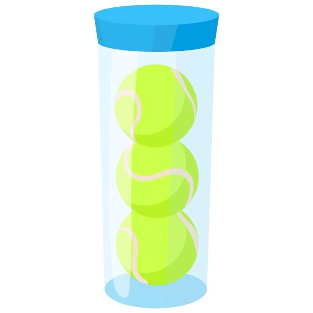 Gambar Tabung Dengan Tiga Ikon Bola Tenis Kuning, Clipart ...