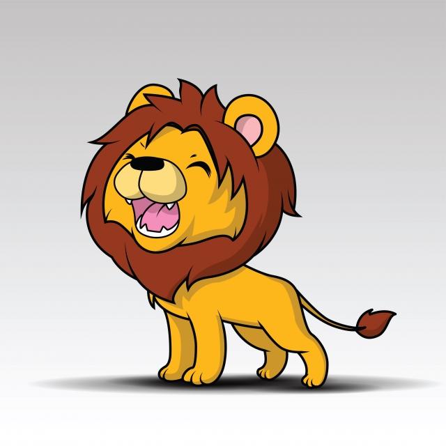 Cute Lion Cartoon Vector, Lion, Cartoon , Africa PNG And